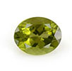 Oval peridot August birthstone.