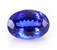 Oval tanzanite December birthstone.