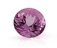 Round light purple amethyst February birthstone.