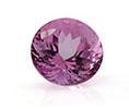 Round light purple amethyst February birthstone.