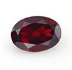Red oval garnet January birthstone.