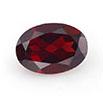 Red oval garnet January birthstone.