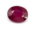 Oval ruby July birthstone.