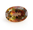 Oval topaz November birthstone.