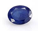 Oval sapphire September birthstone.